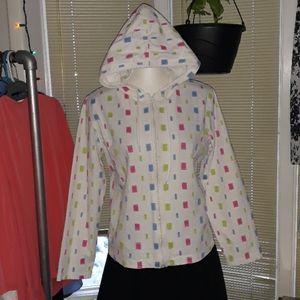 Breckinridge square polka dot light hooded jacket